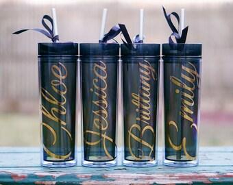 Personalized Tumbler, Bridesmaid Tumbler, Bridesmaid Gift, Bridesmaid Proposal, Bridal Party Gift, Gift for Bride, Holiday Gift