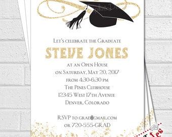 Graduation Party Invitation, Graduation Party Invite, Graduation Announcement, Class of 2018 Invitation, Grad Party Invites | DIGITAL FILE