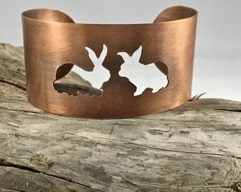 Splitting Hares Copper Cuff