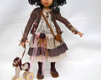 Handmade Doll/Soft Doll/Unique Doll/Art Doll/Housewarming gift/Textile Doll/Collection doll/Custom Doll
