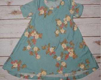 White Flower - Toddler Dress - T-Shirt Dress - Toddler - Baby - Short Sleeve- Soft