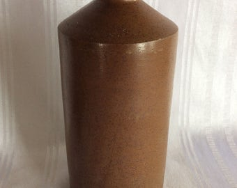 Antique 1800 Bourne Denby ink bottle container jar salt glaze stoneware crock