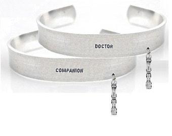 bracelet set- couple bracelet set- doctor companion bracelet set- geek bracelet- geek bracelet set- doctor who bracelet set