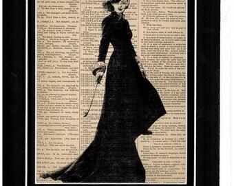 136 Bette Davis dictionary vintage antique art