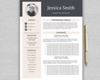 modern resume template professional resume template for word cover letter modern cv template professional cv instant download resume