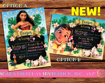 Moana Invitation, Moana birthday invitation, moana party, moana birthday, moana invitations, moana party invitation, moana, invitation moana