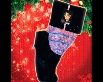 Michael Jackson Tribute Christmas Stocking