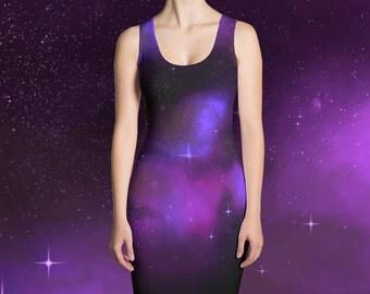 Galaxy Dress - Purple