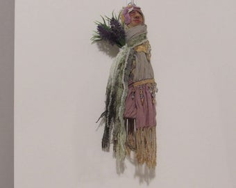 OOAK Art Doll, Kitchen Witch, Handmade Art Doll, Mix-Media Doll, Fiber Art Doll..  dh