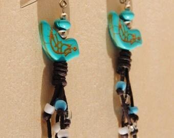 Bohemian Bird Dangle Earrings