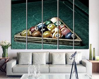 Large Wall Billiard Canvas Color Billiards balls Multipanel Canvas
