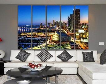 Miami Florida  Miami Poster Miami Photo Miami Wall Art Florida Print Miami skyline Florida Photo Miami Art Miami Canvas Miami Print