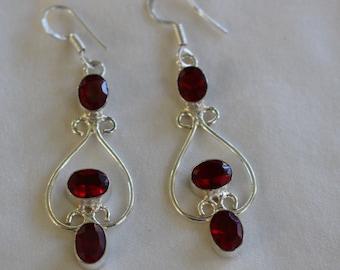 Garnet Quartz Earrings!