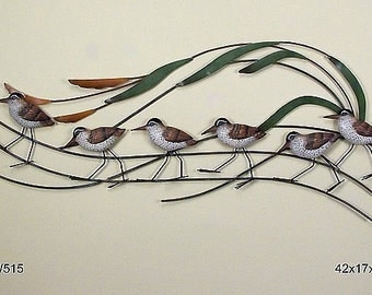 Sandpiper Wave Large Wall Sculpture - CW515