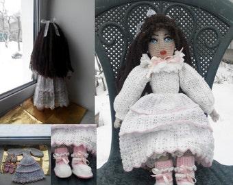 Doll handmade Gift for Girl Cute Doll Stuffed Doll Crochet Reborn Doll Waldorf Doll Portrait Doll Amigurumi Doll Personalized Doll Souvenir