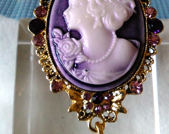 Cameo Brooch with gold tone setting. A bargain at the price