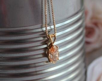 925 Sterling Silver Genuine Topaz Pendant Necklace