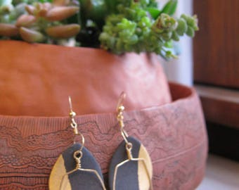 Black Stoneware Earrings