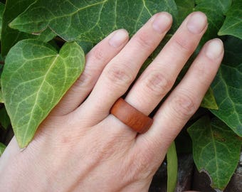 Plum Wood Ring (8) Hypoallergenic/Handmade Ring/Activate Flow/Wooden Ring/Ring/Band Ring/Wood Jewelry/Plum Tree/Tree Energy/FromHerTrees