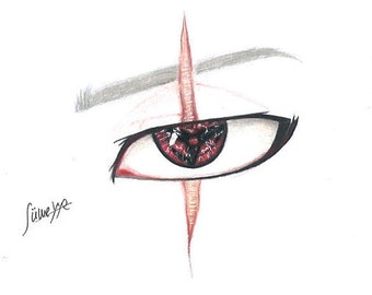 Print/Drawing/Kakashi's Eye Naruto