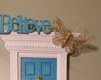 Fairy Door Words, Painted Word Cut Outs, Inspirational Words for Fairy Doors, Fairy Door Decor, Childrens Room Decor, Tooth Fairy Accessory