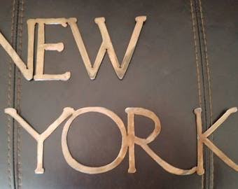 New York Metal Sign.  Wall Decor