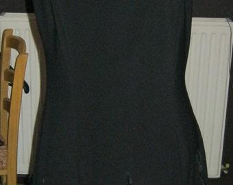 Black evening dress vintage JOSEPH-RIBKOF T40