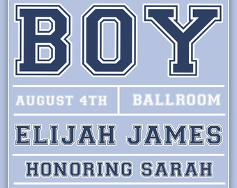 It's A Boy - Baby Shower - Invitation - NEW - Customizable - 12.00