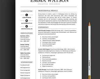 resume template professional resume template instant download creative resume template for word and pages - Resume Template Mac