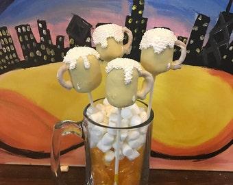 Beer Mug Cake Pops