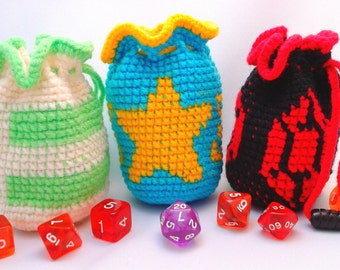 Custom Pixel Art Dice Bag