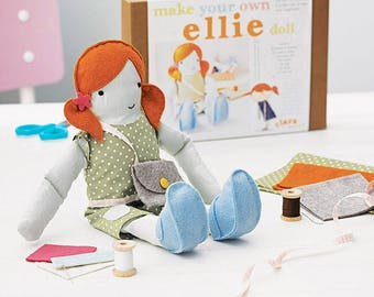 Doll Sewing Kit - Personalised Doll Toy - Make Yourself Doll - Children's Sewing Kit - Creative Activity Kit - Personalised Doll