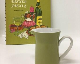 Mikasa Green Creamer, Dahlia Duplex by Ben Seibel, Ceramic Creamer, Vintage 70s Mikasa, Avocado Green Kitchenware, Mikasa, Coffee Creamer