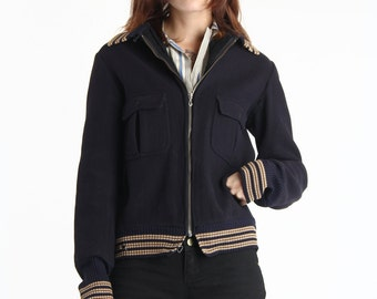 SALE - Blue Wool Jacket 1950s Outer Wear