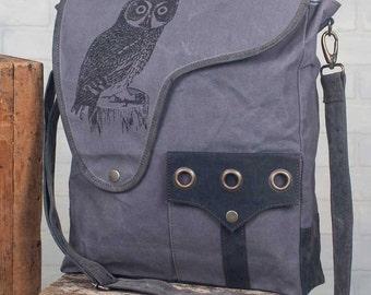 Owl Canvas Crossbody Bag