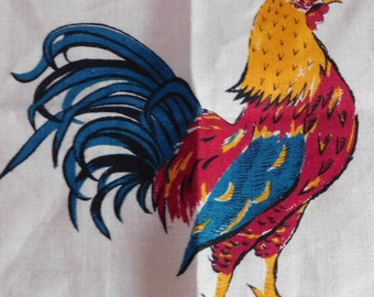Fab Vintage Rooster Placemat and Napkin Sets-Designer Signed by Virginia Zito