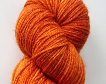 Malabrigo Sock - Terracotta - Orange Red Fingering Hand Dyed Superwash Merino Yarn