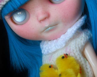 """Custom Blythe doll Original Takara Simpy Sparkly Spark!  """"Blue"""" by Fausto & Gretchen. LAYAWAY ACCEPTED."""