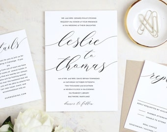 Modern Calligraphy Invitation, Printable Calligraphy Invitation, Calligraphy Invitation Template, For MAC or PC | Instant DOWNLOAD