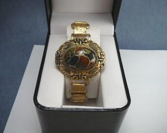 Vintage Bracelet Big Mosaic Like Cabochon