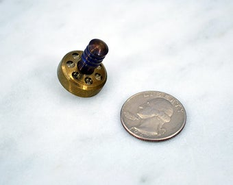Pocket Spin Top - All Stainless Steel - Gold-like anodize - Metal Spinning Top