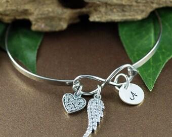 Angel Wing Bracelet, Infinity Bracelet, Remembrance Gift, Miscarriage Bracelet, Sympathy Gift, Memorial Bracelet, Sympathy Gift