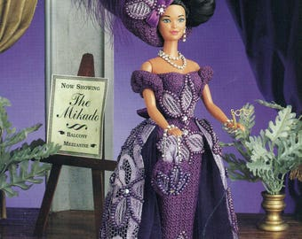 """Annie's Attic Crochet A NIGHT At THE OPERA 11.5"""" Doll Barbie Leaflet 870518"""