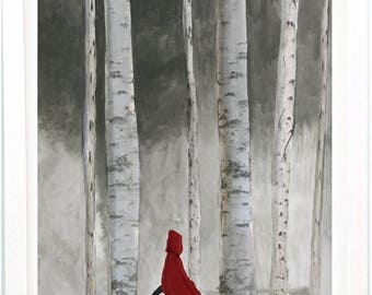 Fierce Little Red Riding Hood Illustration