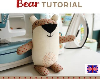 bear plushie tutorial, DIY, instructions, sewing pattern, sewing instructions