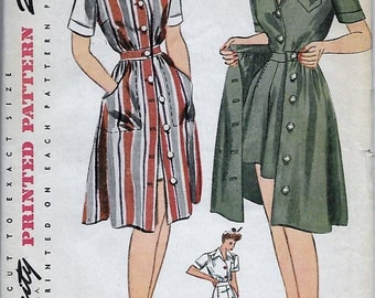 1940s Misses Jumper, Blouse, Shorts, Skirt Playsuit Simplicity 4643 Bust 32 Unused Vintage Women's Sewing Pattern