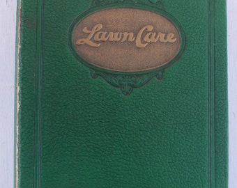 vintage book, Lawn Care, botany, Scott's Lawn Seeds, 1937, from Diz Has Neat Stuff