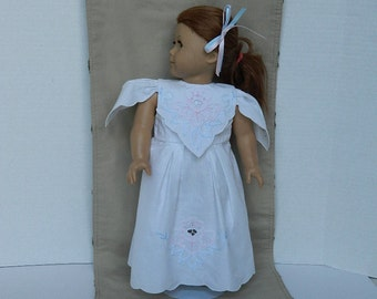 """White Doll Dress - 18"""" Doll Clothes - Easter Doll Dress - First Communion Dress for Doll - Doll Birthday Gift - Commemorative Doll Clothing"""