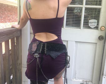 """HOLSTER,Hip Thigh Holster,Leather Holster,""""STEAMPUNK Style"""",1 of kind,Made to Order,recycled leather, Sample SOLD/""""make something similar"""""""