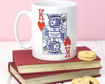 Valentine's Mug For Him, Valentine's Gift, Mug, Gift for Him, Husband Gift, Playing Card, Poker, Boyfriend Gift, Valentines Gift for Him